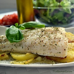 Baked Hake Fish Recipe With Potatoes Spanish Food Recipes