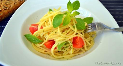 tomato basil pasta recipe spanish food recipes