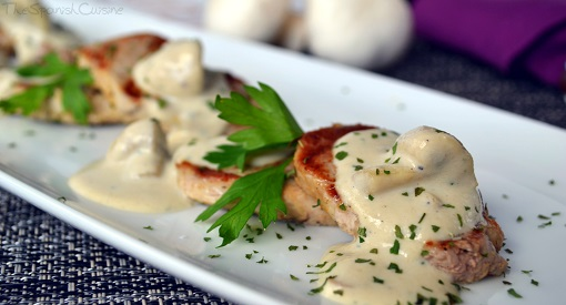 Pork loin with mushroom sauce recipe