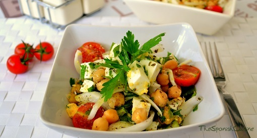 Spanish Chickpea Salad Recipe Spanish Food Recipes