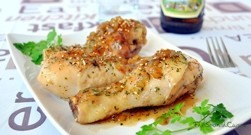 Honey chicken recipe with a delicious homemade honey beer sauce!