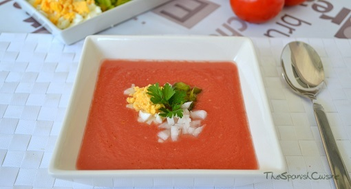 Gazpacho recipe. Gazpacho is the popular Spanish tomato soup recipe for summer and served cold