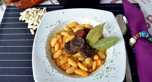 Fabada asturiana recipe! Get this delicious white bean soup with Spanish chorizo