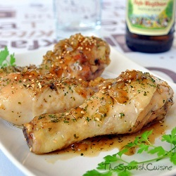 Chicken with honey beer sauce recipe spanish food recipes honey chicken recipe with a delicious homemade honey beer sauce forumfinder Image collections