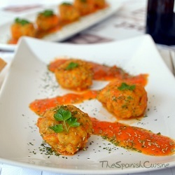 Spanish meatballs in tomato sauce, extremely tender and juicy Tapas recipe!