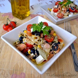 Mediterranean pasta salad recipe spanish food recipes mediterranean pasta salad recipe get this healthy and easy pasta salad recipe from spain forumfinder Choice Image