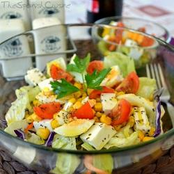Mediterranean salad recipe spanish food recipes easy spanish summer salad forumfinder Images