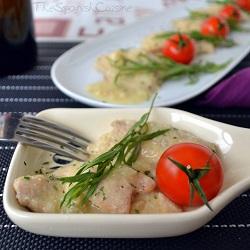 Receta de pollo con salsa de almendras y piñones, un plato muy jugoso y fácil