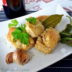 Receta de pollo al ajillo, un plato tradicional, casero y muy fácil de cocinar