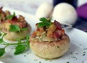 Spanish bacon stuffed mushrooms recipe, a easy to cook Tapas recipes from Spain