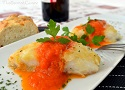 Recipe for cod fish fillets in homemade tomato sauce! An easy and fast fish Tapas dish from Spain