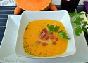 Spanish pumpkin soup recipe with carrots and Serrano ham, an easy to cook recipe!