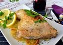 Pollo al horno en su jugo con patatas panadera y cebolla, muy sencilla