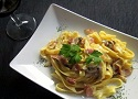 Pasta carbonara recipe with creamy carbonara sauce, one of the best pasta dishes from Italy