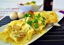 Receta de pasta con pollo y champiñones sencilla, cremosa y rápida de cocinar