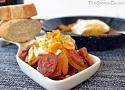 Receta de huevos rotos con chorizo, una famosa tapa de receta fácil y rápida