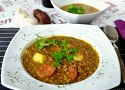 Recipe for Spanish lentil soup with chorizo! A delicious and easy lentils recipe from Spain