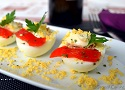 Tuna stuffed eggs, a healthy, fast and easy Spanish Tapas recipe