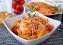 Pasta with tomato sauce and chorizo recipe, an easy Spanish Tapas pasta dish